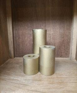 Gouden 3-delige set kaarsenstandaard